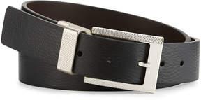 Robert Graham Posner Reversible Faux-Leather Belt, Black