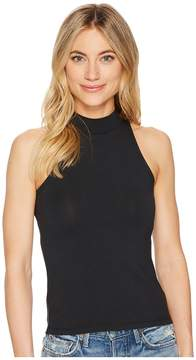 Alternative Cotton Modal Spandex Jersey Mock-Turtle Tank Top Women's Sleeveless
