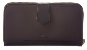 Longchamp 2.0 Leather Zip Around Wallet. - BROWN - STYLE
