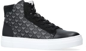 Giorgio Armani Aaron High-Top Leather Sneakers
