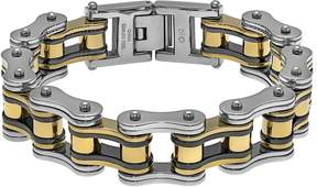 Lynx Tri-Tone Ion-Plated Stainless Steel Motorcycle Chain Bracelet - Men