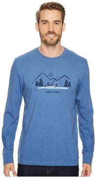 Life is Good Lake It Easy Long Sleeve Crusher Tee Men's Long Sleeve Pullover