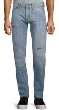 Jean Shop Jim Distressed Cotton Jeans