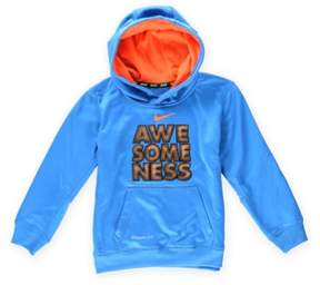 Nike Boys Awesomness Football Hoodie Sweatshirt Blue 4 - Little Kids (4-7)