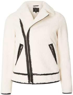 Dorothy Perkins Cream Borg Biker Jacket