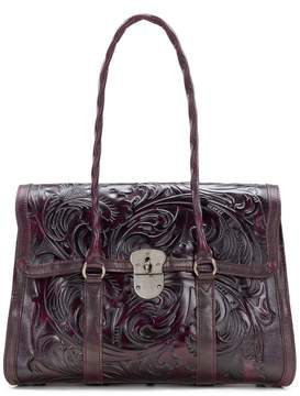 Patricia Nash Burnished Tooled Collection Vienna Satchel