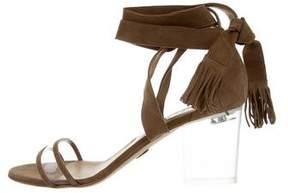 Ritch Erani NYFC PVC-Trimmed Suede Sandals