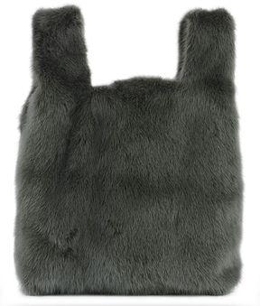 Green Mink's Fur Handle Bag