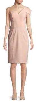 Betsy & Adam Asymmetric One-Shoulder Dress