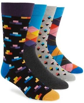Happy Socks Men's 4-Pack Mixed Pattern Box Set