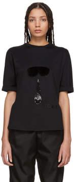 Fendi Black Fur Karlito T-Shirt