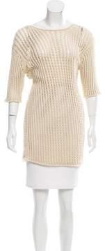 LAUREN MANOOGIAN Open Knit Scoop Neck Sweater w/ Tags