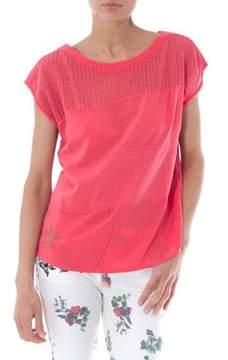 Desigual Women's Fuchsia Cotton T-shirt.