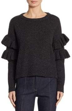 Cinq à Sept Mona Ruffle Sleeve Sweater