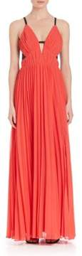 ABS by Allen Schwartz V-Neck Gown