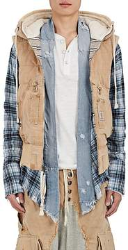 Greg Lauren Men's thedrop@barneys: Hooded Canvas Puffer Vest