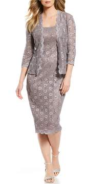 Alex Evenings Scoop Neck Lace Jacket Dress