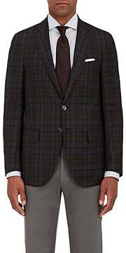 Isaia Men's Sanita Plaid Wool Two-Button Sportcoat