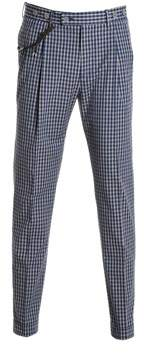 Berwich Men's Barberlongsb1123xblue Blue Cotton Pants.