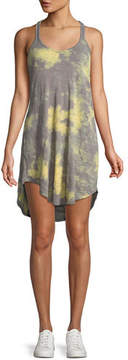 ATM Anthony Thomas Melillo Tie-Dye Scoop-Neck Racerback Cotton Tank Dress