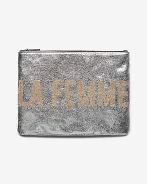 Express La Femme Metallic Clutch