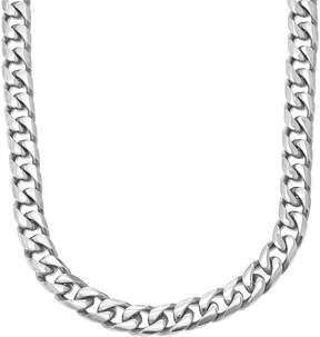 JCPenney FINE JEWELRY Mens Stainless Steel 22 11mm Beveled Curb Chain
