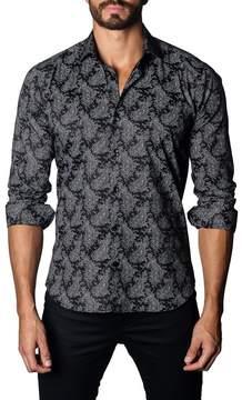 Jared Lang Thomas Paisley Trim Fit Shirt