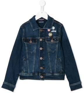 Tommy Hilfiger Junior patch-detailed denim jacket