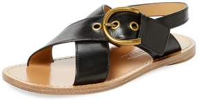 Marc Jacobs Women's Patti Flat Leather Sandal