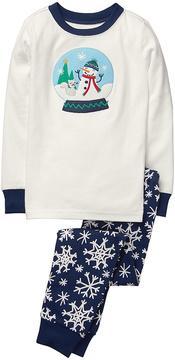 Gymboree Navy Snow Globe Hoho Pajama Set - Infant, Toddler & Boys