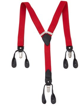 Roundtree & Yorke Red Stretch Suspenders