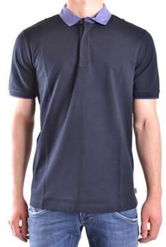 Armani Collezioni Men's Blue Cotton Polo Shirt.