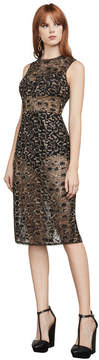 BCBGMAXAZRIA Riley Metallic Leopard Lace Dress