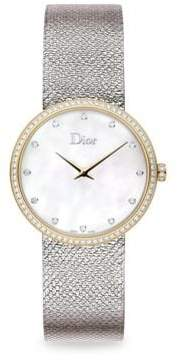Christian Dior La D de Diamond, Mother-Of-Pearl & Stainless Steel Watch