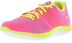 Reebok Girl's Zprint Run Solar Pink / Yellow White Ankle-High Running Shoe - 6.5M
