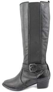 Giani Bernini Womens Allcott Leather Almond Toe Knee High Cowboy Boots.