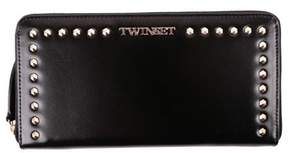 Twin-Set Women's Black Leather Wallet.