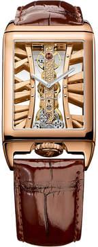 Corum 113.050.55/0F02 MX55R Golden Bridges 18ct rose-gold and alligator leather watch