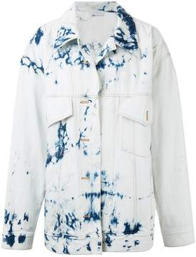 Faith Connexion denim oversized tie dye jacket