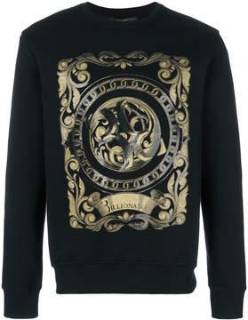 Billionaire Baroque printed jumper