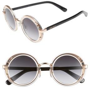 Jimmy Choo Women's Gems 48Mm Round Sunglasses - Crystal/ Gold/ Black