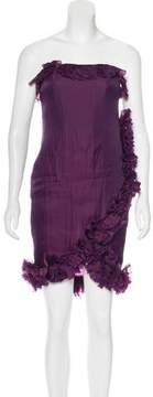Aquilano Rimondi Aquilano.Rimondi Ruffle-Trimmed Strapless Dress