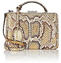 Mark Cross Women's Grace Small Python Box-Gold
