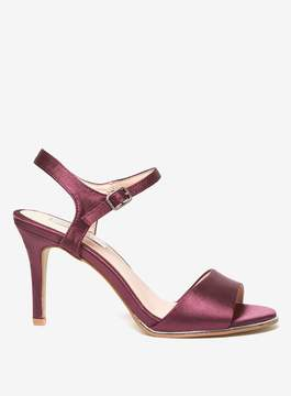 Dorothy Perkins **Showcase Berry 'Senorita' Satin Sandals