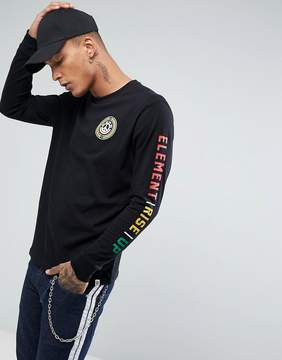 Element Rise Up Long Sleeve T-Shirt With Sleeve Print