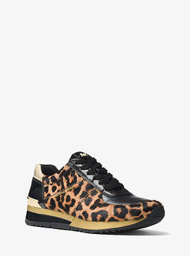 Michael Kors Allie Leopard Calf Hair Sneaker