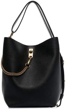 Givenchy black GV3 grained leather bucket bag