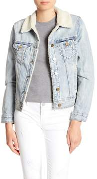 Articles of Society Liz Faux Shearling Lined Denim Jacket