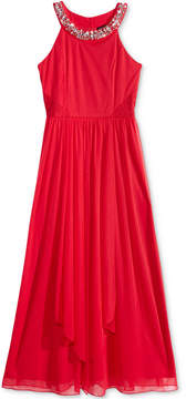 My Michelle Embellished-Neck Maxi Dress, Big Girls (7-16)