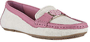 Isaac Mizrahi Live! Canvas Moccasins withLeather Trim